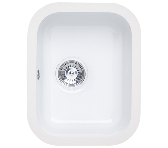 Astracast Lincoln 3040 Main Bowl Ceramic Gloss White Undermount Sink