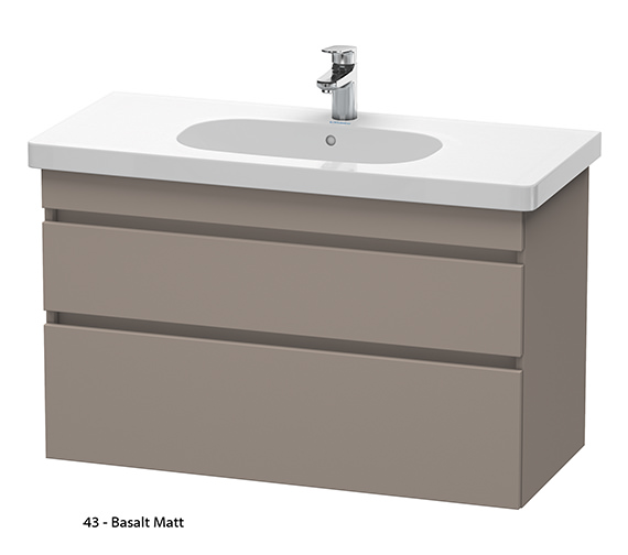 Additional image of Duravit DuraStyle 1000mm 2 Drawers Unit With D-Code 1050mm Basin