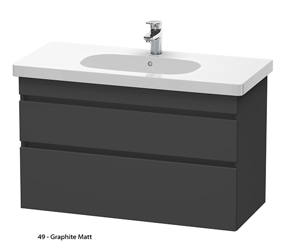 Alternate image of Duravit DuraStyle 1000mm 2 Drawers Unit With D-Code 1050mm Basin
