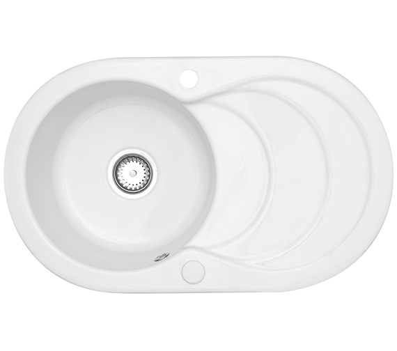 Astracast Cascade 1.0 Bowl Ceramic Inset Kitchen Sink