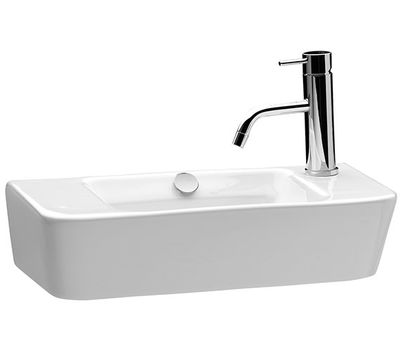 Saneux Project 500mm Washbasin With Right Hand Tap Hole