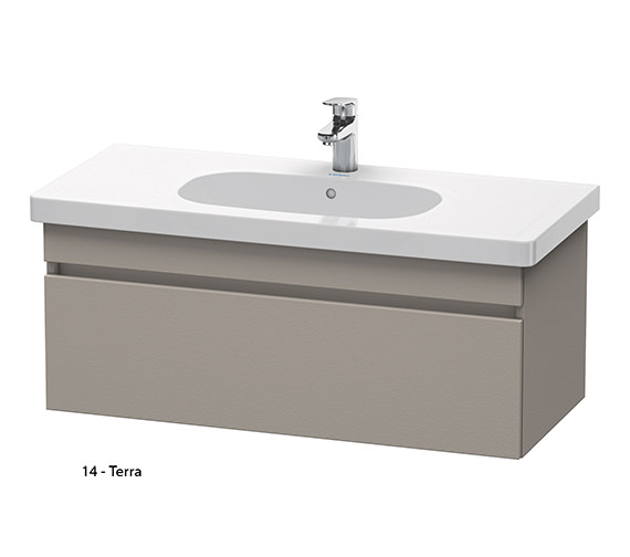 Additional image of Duravit DuraStyle 1000mm Vanity Unit With D-Code 1050mm Basin