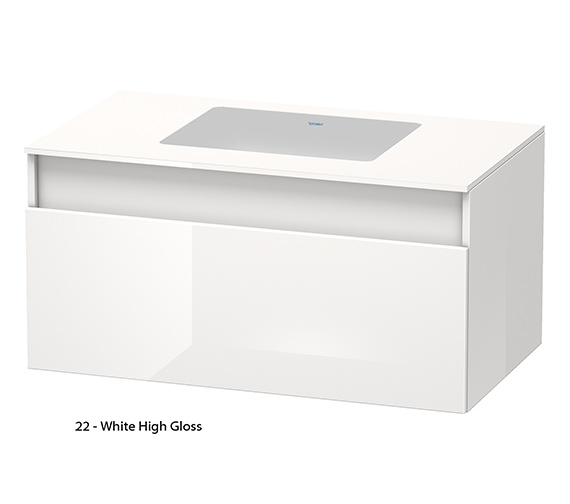 Alternate image of Duravit DuraStyle 1000mm Wall Mounted Unit For Undercounter Basin