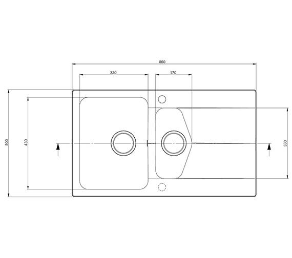 Technical drawing QS-V27676 / CV15RZHOMESK