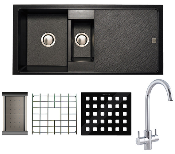 Astracast Contour 1.5 Bowl Composite ROK TEX Inset Sink And Tap Pack