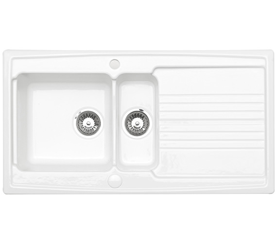 Astracast Equinox 1.5 Bowl White Ceramic Inset Kitchen Sink
