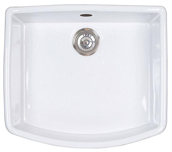 Astracast Edinburgh 1.0 Bowl Ceramic Gloss White Finish Sit-In Sink