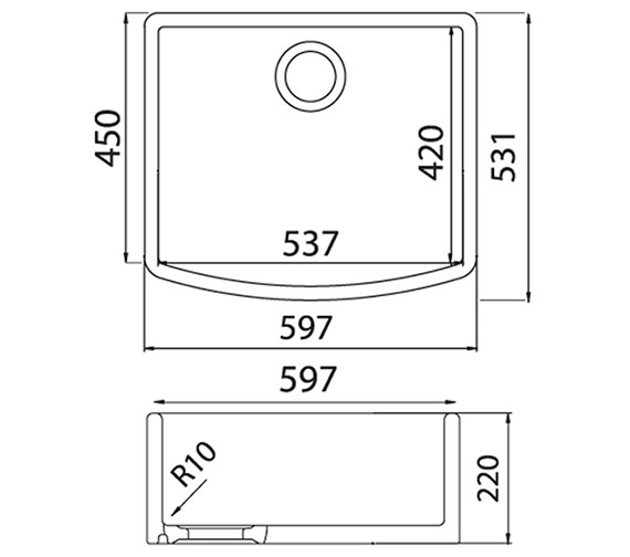 Technical drawing QS-V27645 / ED10WHHOMESK