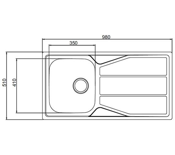 Technical drawing QS-V27611 / EN10XXHOMESK