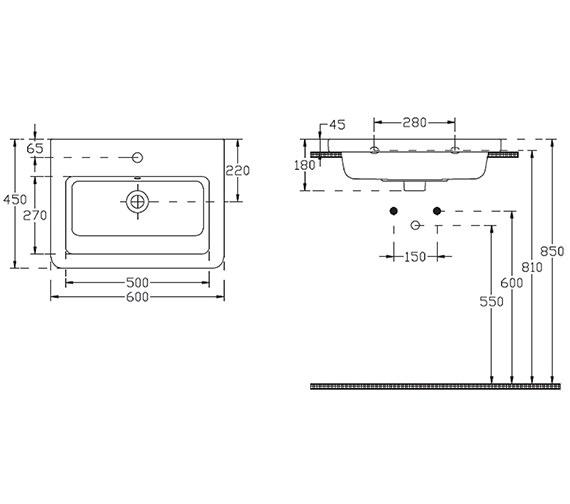Technical drawing QS-V29655 / 70001