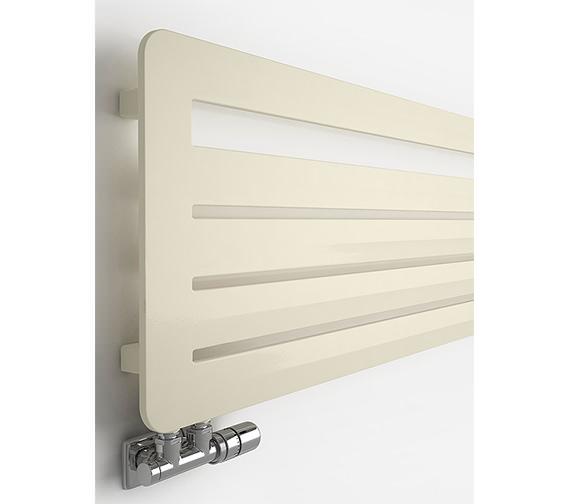 Alternate image of DQ Heating Felucca Designer Radiator White Aluminium Matt