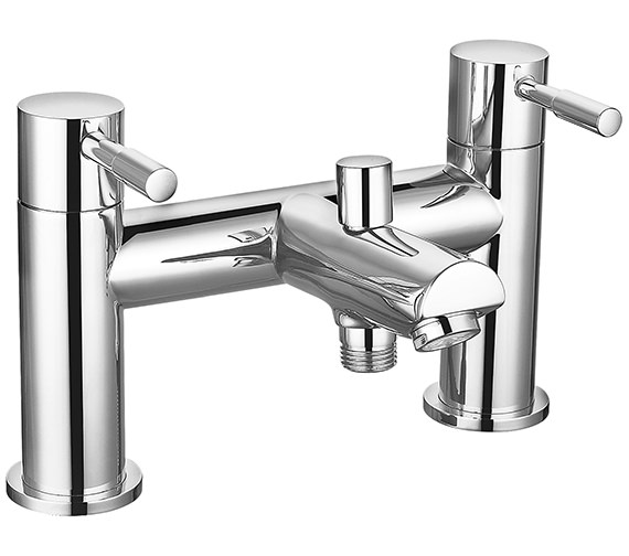 Saneux Pascale Deck Mounted Bath Shower Mixer Tap And Handset Kit