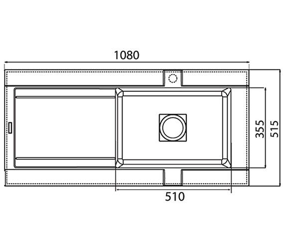 Technical drawing QS-V27595 / GE10RZHOMESK