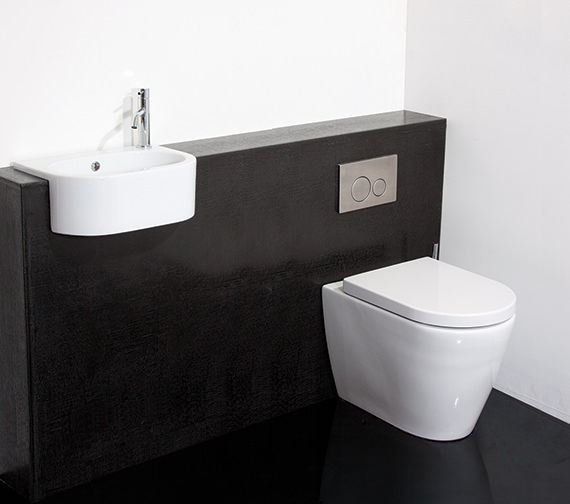 Additional image of Saneux Uni 460mm Semi Recessed Washbasin