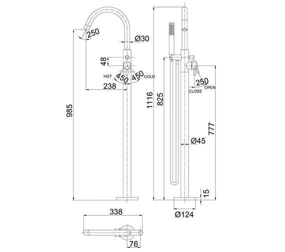 Technical drawing QS-V72562 / PRO416FV
