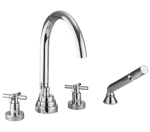 Crosswater Totti 4 Hole Bath Shower Mixer Tap With Kit