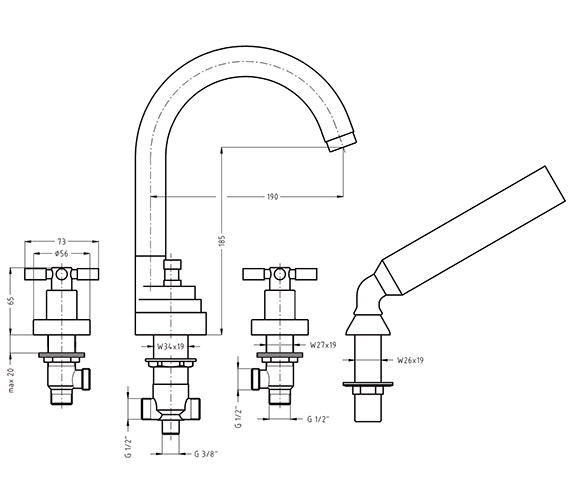 Technical drawing QS-V38229 / TO440DC