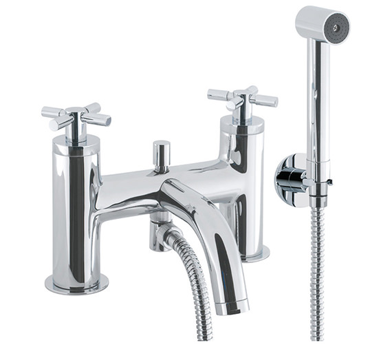 Crosswater Totti Deck Mounted Bath Shower Mixer Tap With Shower Kit