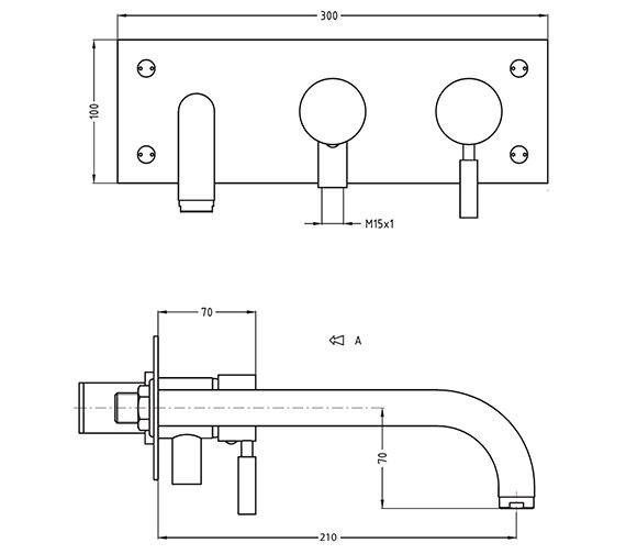 Technical drawing QS-V38152 / DE431WC