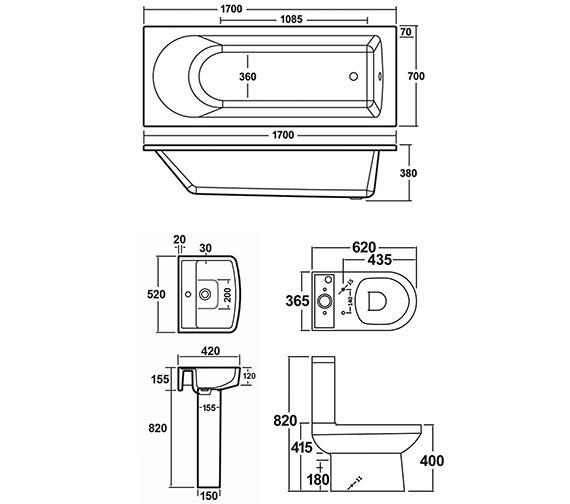 Technical drawing QS-V8888 / NBA609