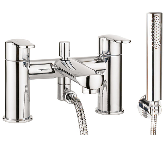 Crosswater Voyager Deck Mounted Bath Shower Mixer Tap With Kit