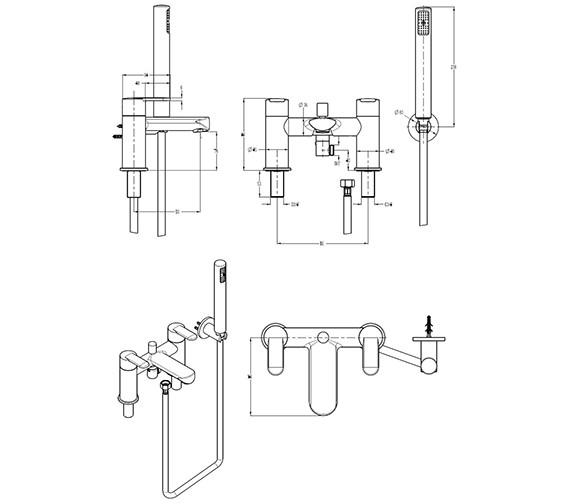 Technical drawing QS-V29902 / VO422DC