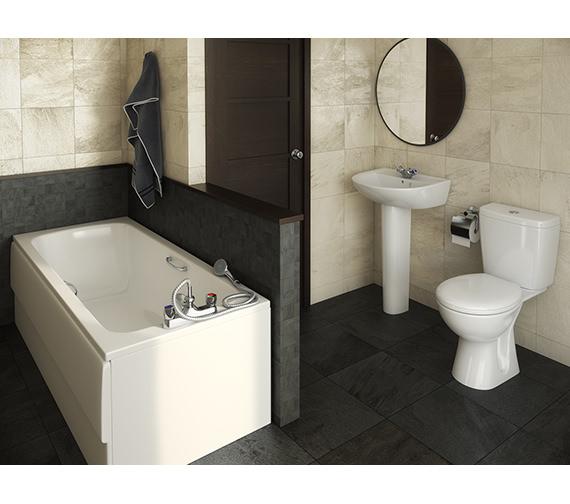 Armitage Shanks Sandringham 21 1TH White Bathroom To Go Pack