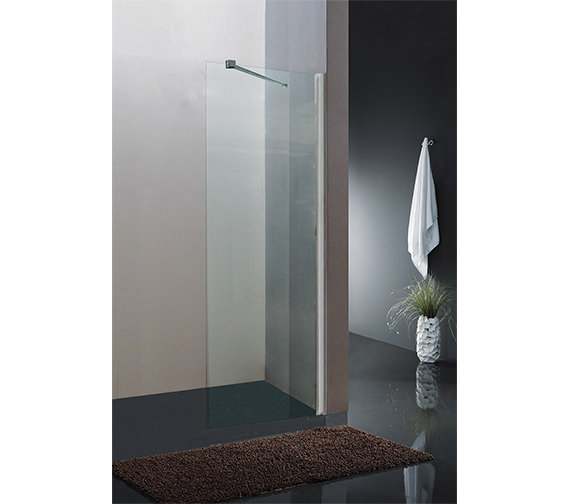 Saneux Walk In Front Panel With Telescopic Bar
