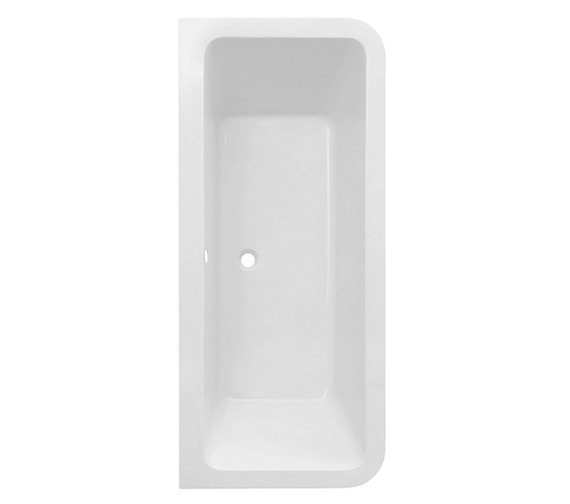 Saneux Indigo 1800 x 800mm D Shaped Bath