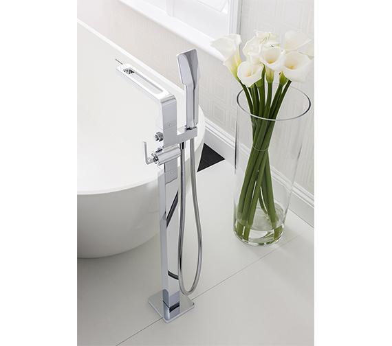 Crosswater Kelly Hoppen Zero 1 Floor Standing Bath Shower Mixer Tap With Kit