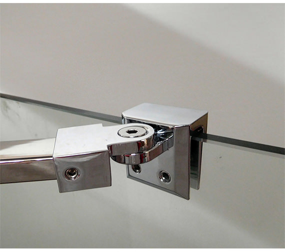 Additional image of Saneux Walk In Front Panel With Telescopic Bar