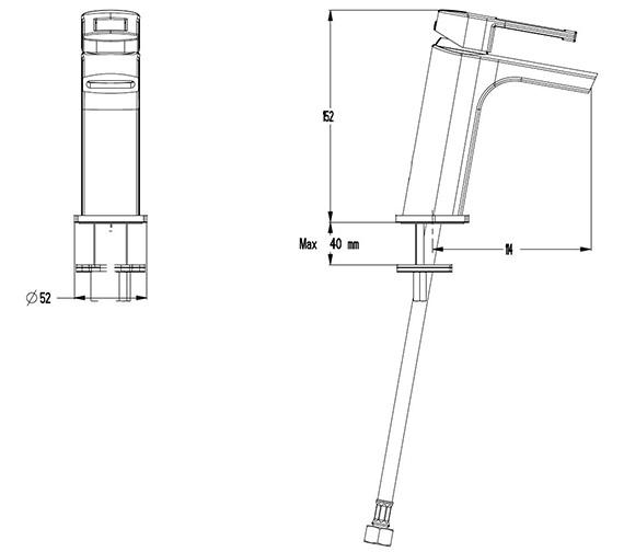 Technical drawing QS-V41320 / SP114DNC