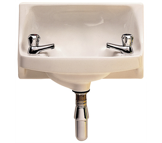 Twyford Parmis  500 x 300mm 2 Tap Hole Semi Recessed Handrinse Basin