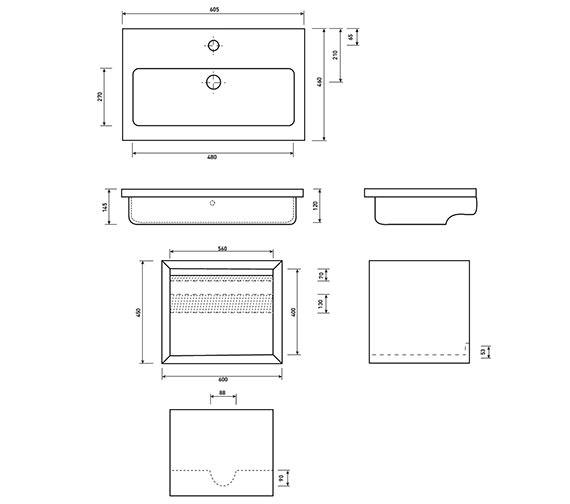 Technical drawing QS-V63545 / FU105