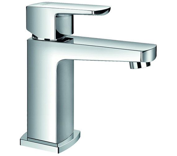 Flova Dekka Cloakroom Basin Mixer Tap With Clicker Waste 145mm Height
