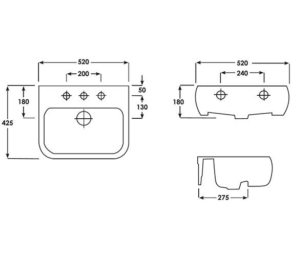 Technical drawing QS-V36244 / METSRBAS1