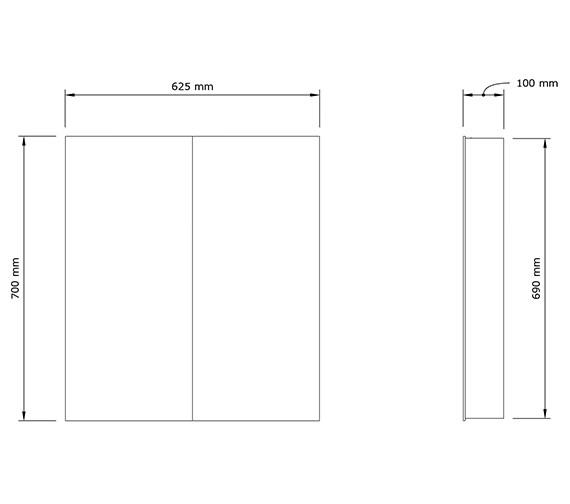 Technical drawing QS-V80475 / 1062