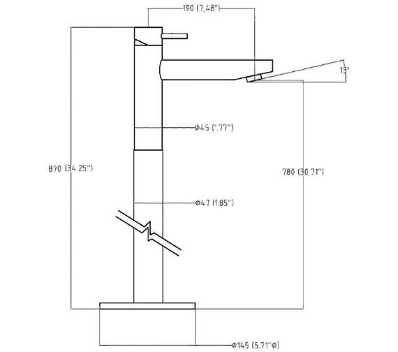 Technical drawing QS-V38332 / KL315FC