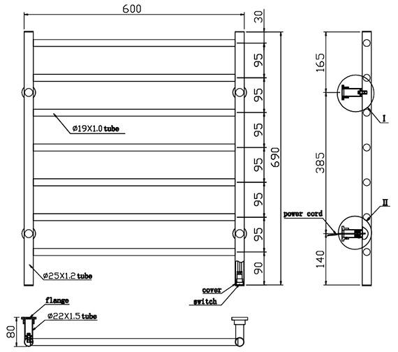 Technical drawing QS-V86419 / TE-7306