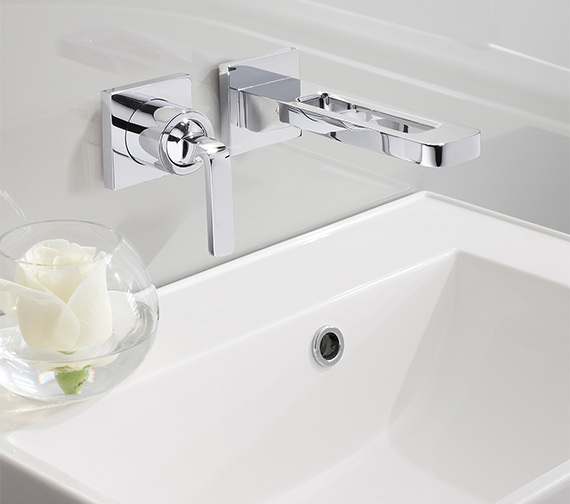 Crosswater Kelly Hoppen Zero 1 Wall Mounted Basin 2 Hole Set