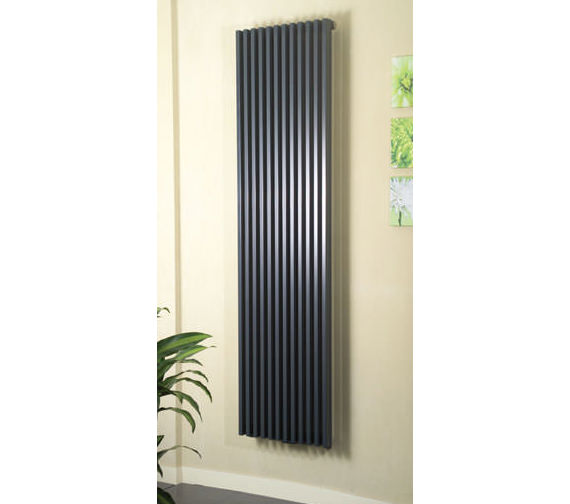 Apollo Bassano 1800mm Height Anthracite Vertical Radiator