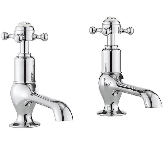 Crosswater Belgravia Pair Of Long Nose Basin Taps With Crosshead Handle