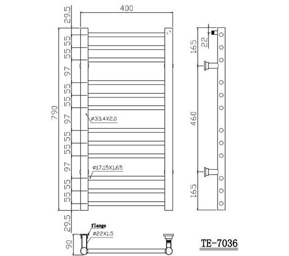 Technical drawing QS-V86426 / TE-7036