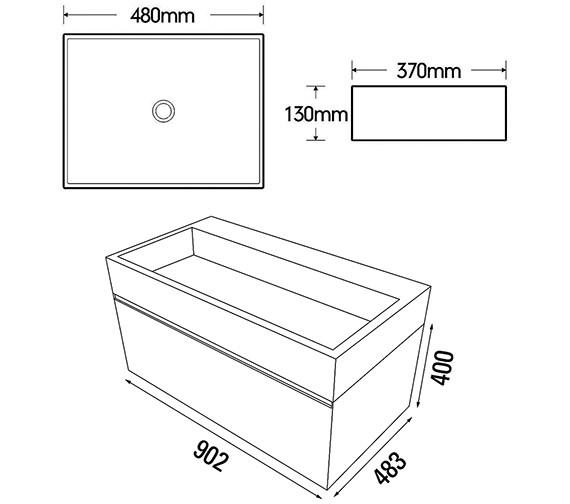 Technical drawing QS-V88210 / MC180.03