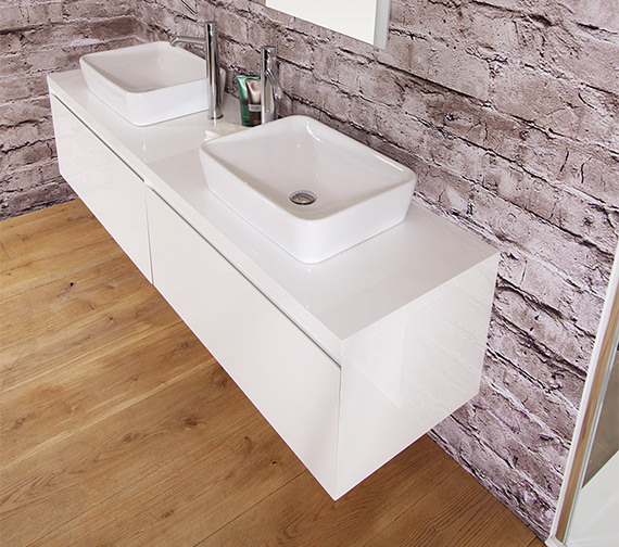 Saneux Podium 1500mm Unit With Worktop And Basin