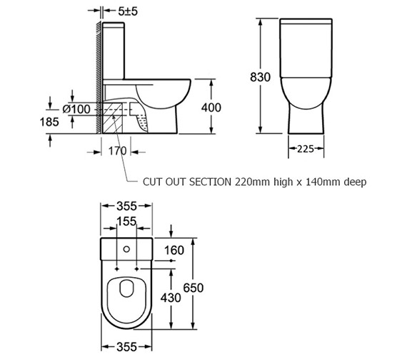 Technical drawing QS-V29688 / 500701