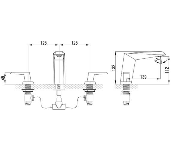 Technical drawing QS-V82591 / ME003