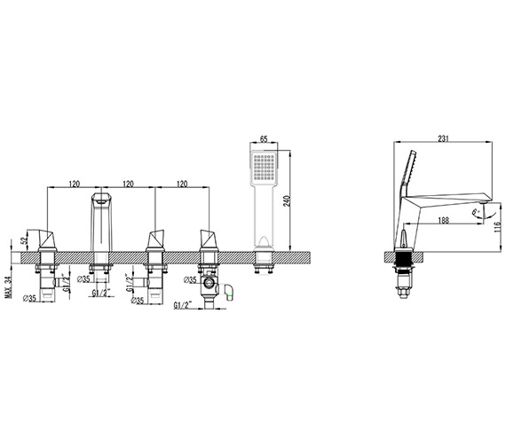 Technical drawing QS-V82595 / ME014