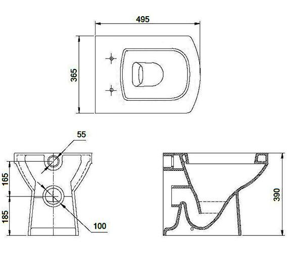 Technical drawing QS-V88216 / 60634