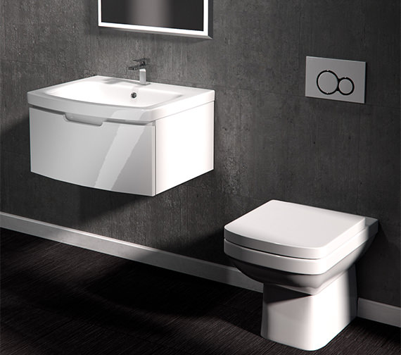 Additional image of Saneux I-Line Back-To-Wall WC Pan With Seat And Cover
